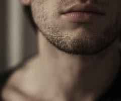 man lips