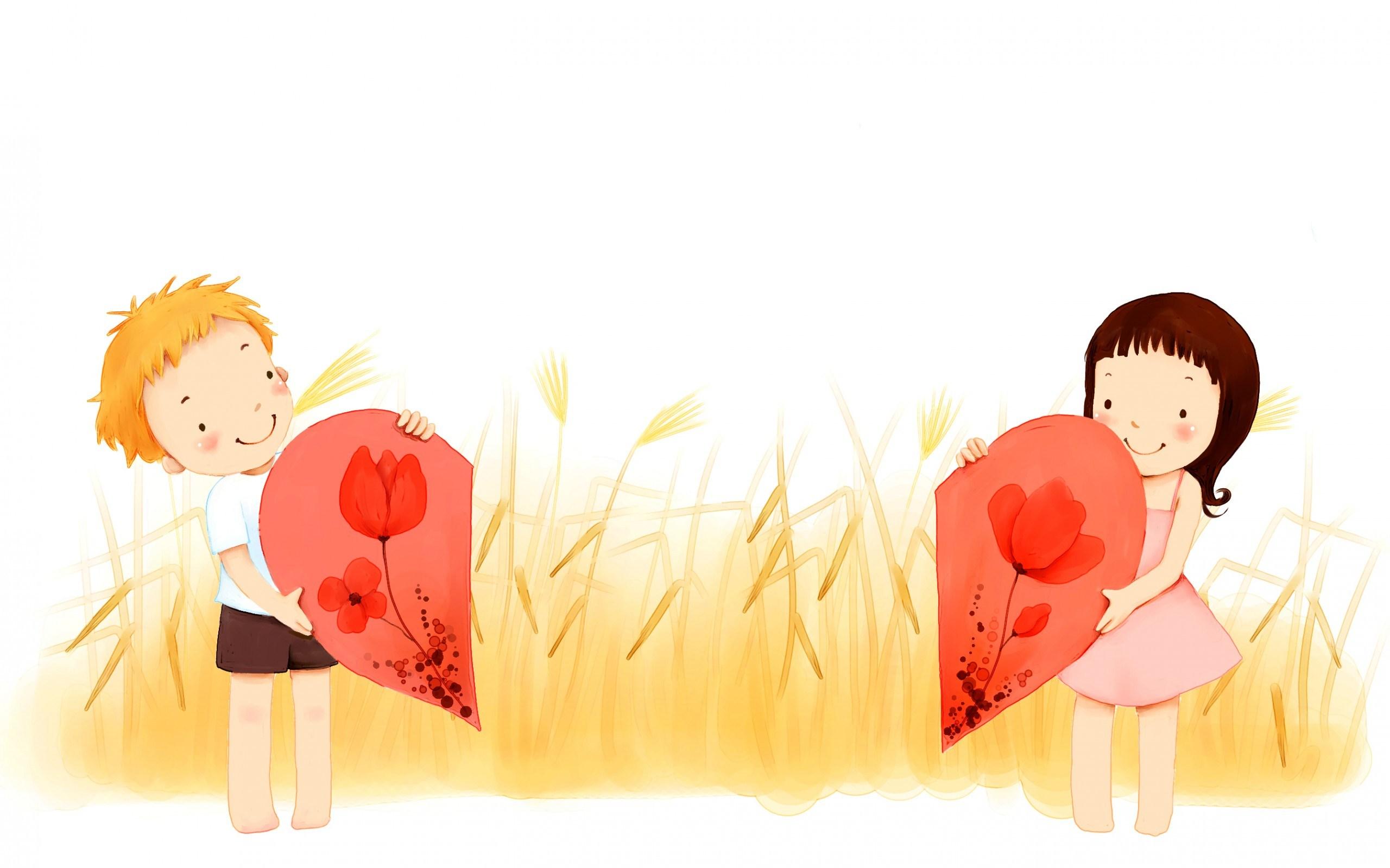 Beautiful-Art-Love-Girl-And-Boy-Heart-Wallpaper-Background